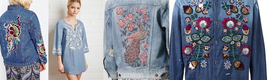 É tendência: Jeans Bordado